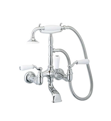 Phylrich K2393-080 Old Tyme Wall Mounted Tub & Shower Set With Finish: Satin Nickel with Polished Brass
