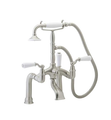 Phylrich K2393D-084 Old Tyme Deck Mounted Tub & Shower Set With Finish: Satin Gold with Satin Nickel