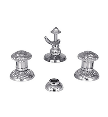 Watermark 140-4.2-AZ1-VB Lago Three Hole Bidet Faucet With Finish: Vintage Brass <strong>(USUALLY SHIPS IN 9-10 WEEKS)</strong>