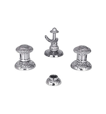 Watermark 150-4.2-AZ1-VN Azahar Three Hole Bidet Faucet With Finish: Velvet Nickel <strong>(USUALLY SHIPS IN 8-9 WEEKS)</strong>