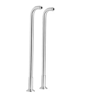 Phylrich K2390XFR36-082 Old Tyme Floor Risers With Finish: Polished Chrome with Polished Brass