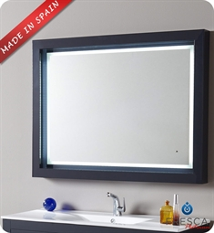 "Fresca Platinum Due 47"" Bathroom Mirror with LED Lighting and Fog Free System in Cobalt Gloss"