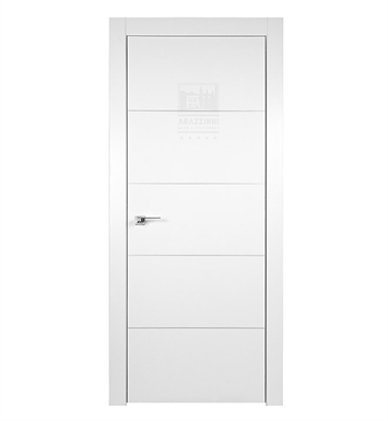 Arazzinni AZ-4H-9010-1880-PBH SmartPro 4H Polar White Modern Interior Door With Door Width: 17 13/16 inches And Hanging Options: Complete with Door Jambs, Casing, Door Handle Pre-drilling, and Chrome Plain Bearing Hinges