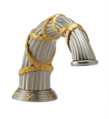 Phylrich K5137-080 Ribbon & Reed Deck Tub Spout With Finish: Satin Nickel with Polished Brass