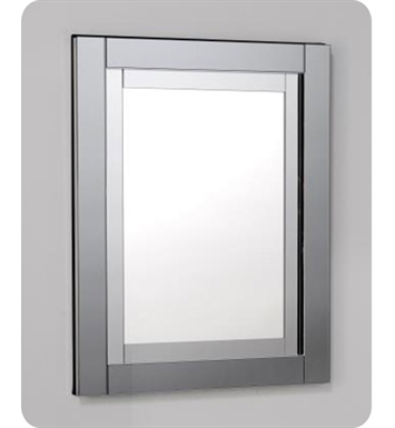 "Robern MT24D4CDWLE Candre 23 1/4"" Wide x 4"" Deep Customizable Cabinet with Glass & Chrome Framed Mirror With Cabinet Hinge: Left with Electric Option And Style and Color: White"
