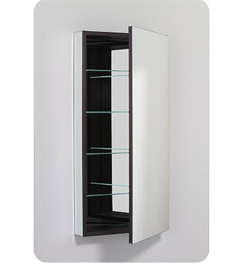 "Robern PLM2040BBRE PL Series 19-1/4"" x 39-3/8"" Customizable Medicine Cabinet w/ Wide Flat Door With Cabinet Hinge: Right with Electric Option And Mirror Type / Lens: Beveled And Style and Color: Black Interior"