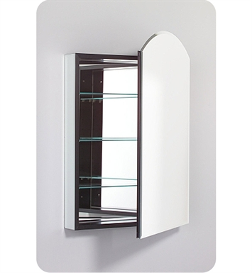 "Robern PLM2434WBRE PL Series 23-1/4"" x 34"" Customizable Arch Door Medicine Cabinet With Cabinet Hinge: Right with Electric Option And Mirror Type / Lens: Beveled And Style and Color: White Interior"