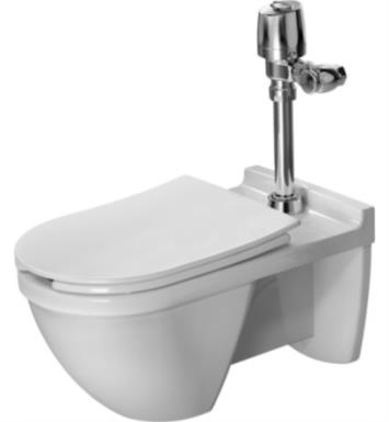 duravit starck 3 single flush onepiece wall mounted visible inlet elongated toilet in white finish