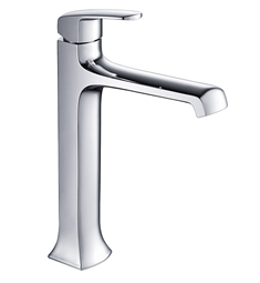 Fresca FFT3502CH Verdura Single Hole Vessel Mount Bathroom Faucet in Chrome