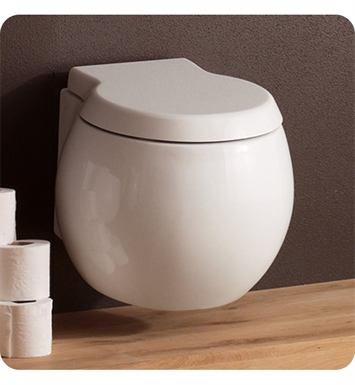 Nameeks 8105 Scarabeo Planet Round Wall Mounted Toilet