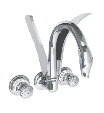 Watermark 140-5TO-AZ1-WH Lago Wall Mounted Faucet With Finish: White <strong>(USUALLY SHIPS IN 9-10 WEEKS)</strong>