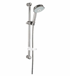 Grohe 27140EN0 Rainshower Rustic Multi-Function Hand Shower Package in Brushed Nickel Finish with Slide Bar, Hose and Bracket