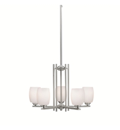 Kichler Eileen Collection Chandelier 5 Light in Brushed Nickel