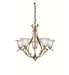 Kichler Dover Collection Chandelier 5 Light in Antique Brass