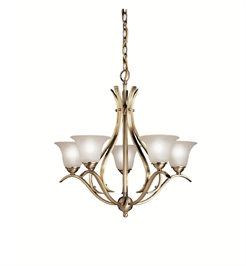 Kichler 2020AB Dover Collection Chandelier 5 Light With Finish: Antique Brass