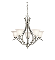 Kichler 2020NI 5-Bulb Chandelier in Brushed Nickel Finish from the Dover Collection