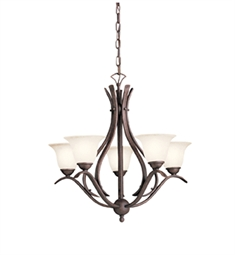 Kichler Dover Collection Chandelier 5 Light in Tannery Bronze