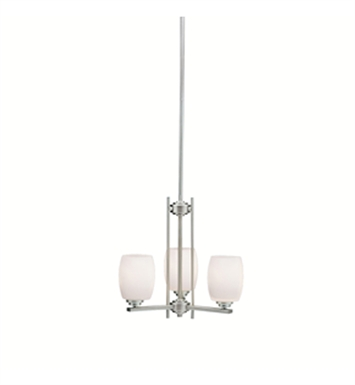 Kichler 1894NI Eileen Collection Mini Chandelier 3 Lights in Brushed Nickel