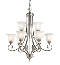 Kichler Monroe Collection Chandelier 9 Light in Brushed Nickel