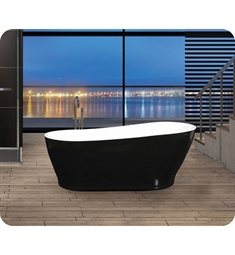 Oceania MI6701-49 Milano One-Piece Freestanding Soaker Bathtub in Black