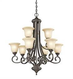 Kichler Monroe Collection Chandelier 9 Light in Olde Bronze
