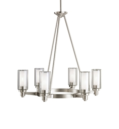 Kichler Circolo Collection Chandelier 6 Light in Brushed Nickel