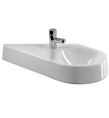 Duravit 0765650000 architec wall mount diagonal porcelain for Duravit architec sink