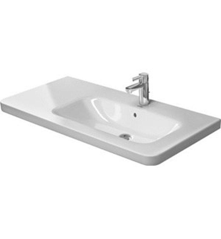 ... Asymmetric Porcelain Furniture ADA Bathroom Sink - Bowl on Right Side