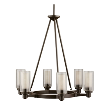 Kichler 2344OZ Circolo Collection Chandelier 6 Light in Olde Bronze