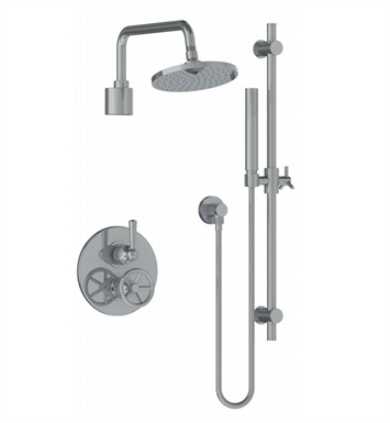 Watermark 31-6.75TO-BK-VEL Brooklyn Thermostatic Shower Set with Handshower With Finish: Velvet Elite Brass (14k) <strong>(USUALLY SHIPS IN 8-9 WEEKS)</strong>