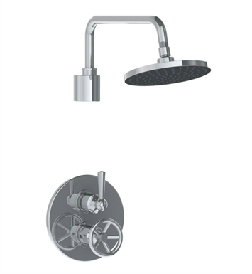 Watermark 31-6.4TO-BK-VB Brooklyn Thermostatic Shower Set With Finish: Vintage Brass <strong>(USUALLY SHIPS IN 9-10 WEEKS)</strong>