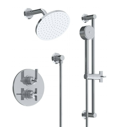 Watermark 37-6.75TO Blue Thermostatic Shower Set with Handshower