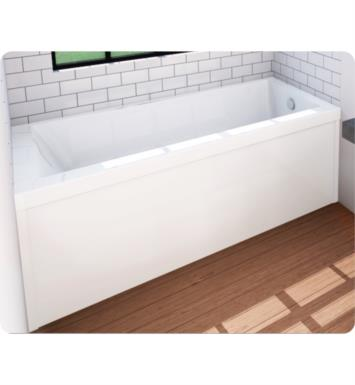 "Oceania UN28LDTAM48 Unity 59 3/4"" Customizable Alcove Rectangular Bathtub With Finish: Black And Tiling Flange and Drain Position: Integrated Tiling Flange with Left Hand Drain And Therapy Modes: Dynamic Turbo and AeroMassage"