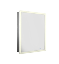Whitehaus WHLUN7055-IR Medicinehaus Recessed Single Door Cabinet with Outlet, Led Power Dimmer and Adjustable Shelves