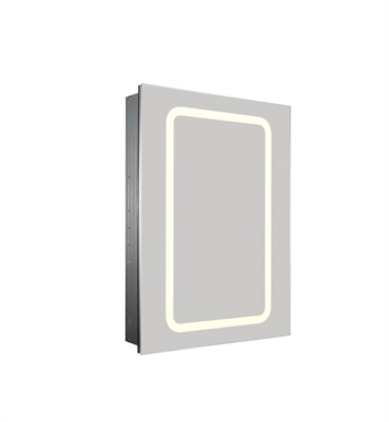 Whitehaus WHKAL7055-I Medicinehaus Recessed Single Door Cabinet with Outlet, LED Power Dimmer and Adjustable Shelves