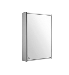 Whitehaus WHCAR-35 Medicinehaus Single Door Medicine Cabinet with Double Faced Mirrored Door, Two Adjustable Glass Shelves & Mirror Faced Back Wall