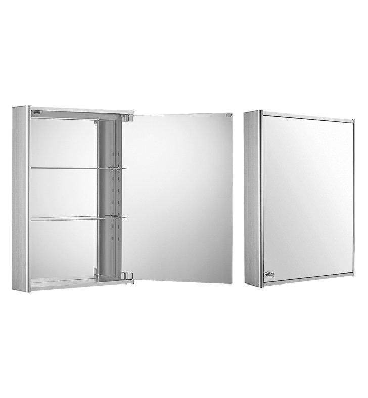 whitehaus whcar 35 medicinehaus single door medicine cabinet with double faced mirrored door. Black Bedroom Furniture Sets. Home Design Ideas