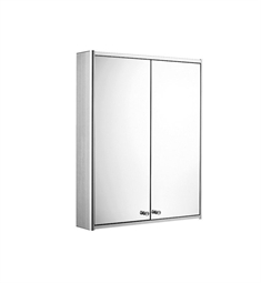 Whitehaus WHCAR-42 Medicinehaus Double Door Medicine Cabinet with Double Faced Mirrored Doors, Two Adjustable Glass Shelves and Mirror Faced Back Wall