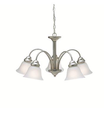 Kichler 2093NI Wynberg Collection Chandelier 5 Light in Brushed Nickel