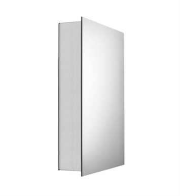 Whitehaus WHLED-1 Medicinehaus Medicine Cabinet with Double Faced Mirrored Door, Two Adjustable Glass Shelves and Mirror Faced Back Wall