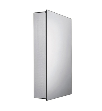 Whitehaus WHSKA-68 Medicinehaus Single Door Medicine Cabinet with Double-Faced Mirrored Door, Two Adjustable Glass Shelves and Mirror Faced Back Wall