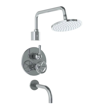 Watermark 31-3.6TO-BK-UPB Brooklyn Thermostatic Shower Set With Finish: Uncoated Polished Brass <strong>(USUALLY SHIPS IN 8-9 WEEKS)</strong>