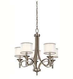 Kichler Lacey Collection Chandelier 5 Light in Antique Pewter