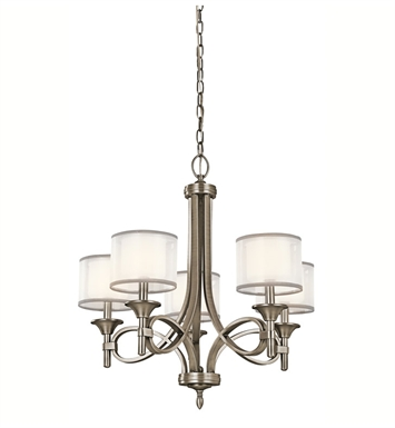 Kichler 42381AP Lacey Collection Chandelier 5 Light With Finish: Antique Pewter
