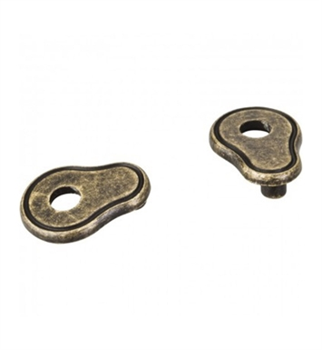 "Hardware Resources PE02-BNBDL Pull Escutcheon for 3"" to 3 3/4"" Cabinet Pull Transition With Finish: Brushed Pewter"