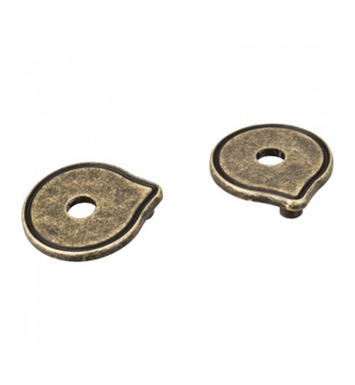 "Hardware Resources PE04-ABM-D Pull Escutcheon for 3"" to 3 3/4"" Cabinet Pull Transition With Finish: Distressed Antique Brass"