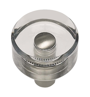 "Atlas Homewares 3146BRN 1"" Cabinet Knob from the Optimism Lucite Collection With Finish: Brushed Nickel"