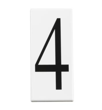 Kichler 4304 Address Light Number 4 Panel in White - Set of 10