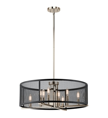 Kichler 43715PN Titus 8 Light Chandelier/Pendant-Polished Nickel