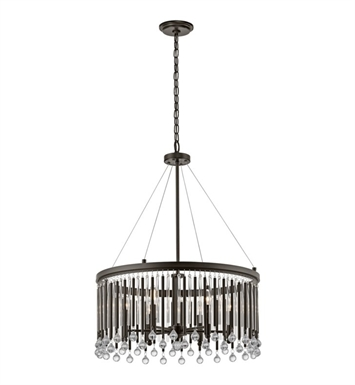 Kichler 43723ESP Piper 6 Light Chandelier-Pendant in Espresso